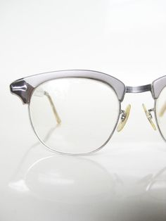 reputable site e2705 4e81f Vintage 1950s CAT EYE Shuron Eyeglasses Glasses Optical Frames Cateye  ALUMINUM 50s Mad Men