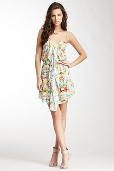 Floral Print Dress. I like this for when Cadence meets Tuck's 'family': LCA