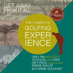 $99 complete golfing experience in April Book online pelicangolf.com.au or call Pelican Waters Proshop 54375002