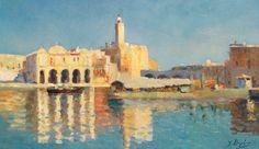 Peinture Port d'Alger - Yvonne Beylier - L'Amirauté d'Alger