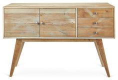 "Carmel 56"" Sideboard, Natural/Ash"