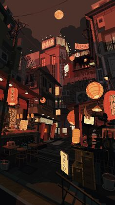 WANEELLA pixel art is part of Pixel art - Illustration for the wonderful The Tokyoiter project 🏮 Anime Scenery Wallpaper, Wallpaper Backgrounds, Live Wallpaper Iphone, Wallpaper Art, Animes Wallpapers, Cute Wallpapers, Arte 8 Bits, Pixel Art Background, Background Drawing