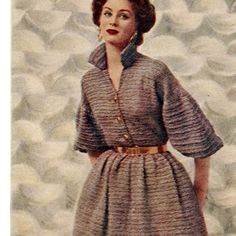 Quick Knit Dress Pattern with Whirl Skirt Sleeves