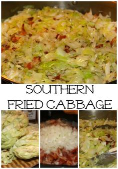 New Years Southern Fried Cabbage - a lucky side dish for New Year's Day!