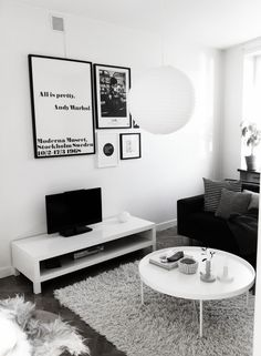 Via Rum För Två | Warhol Print | Black & White, Scandinavian, Nordic