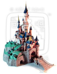 Sleeping Beauty's Castle made in paper, seen in Japanexpo 2014 in Paris ! Here is to make one : http://www.disneyexperience.com/models/dlpcastle_model.php