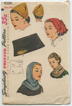 1950s Simplicity 4506 Set of Hats Clutch Purse by GreyDogVintage, $50.00