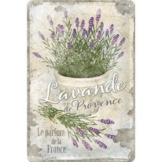 Nostalgic-Art 22200 Home und Country Lavende de Provence Blechschild, 20 x 30 cm