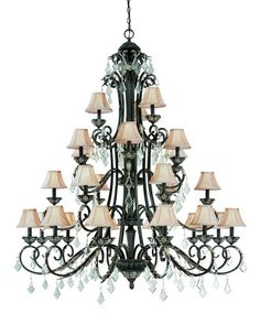 """Dolan Designs 2108 27-Light 4 Tier Chandelier from the Florence Collection - (Extra Chain & Special Hardware Included) - LightingDirect.com 