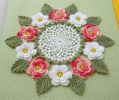 Apple blossom doily..