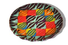 Fiesta  Fused Glass Art Bowl with Flowing Edge by CGDbyMeryl, $300.00