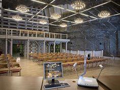 Sala konferencyjna w kopalni Wieliczka Underground conference hall in Wieliczka salt mine, Poland