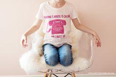 Grandmas House is Calling and I Must Go Tshirt DIY Kids outfit - Cricut Happy Together, T Shirt Diy, Diy For Kids, Kids Outfits, Challenges, T Shirts For Women, Cricut Air, Cricut Craft, Clothes