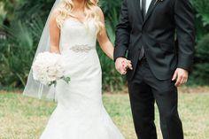 Lindsay in Augusta Jones gown, Haute Bride sash and Amanda Judge veil!