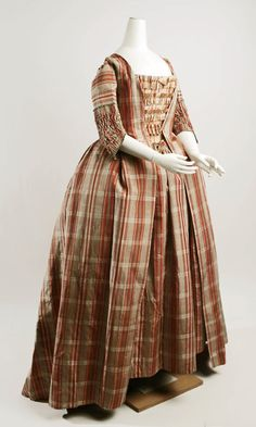 Robe a la francaise, 1770-90    From the Metropolitan Museum of Art