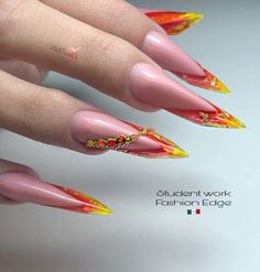 Edge Nails, My Nails, Jolie Nail Art, Finger Nails, Almond Nails, Acrylic Nails, Manicure, Nail Designs, My Favorite Things