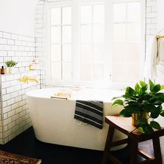 how to have a bath: bathroom on New Darlings blog