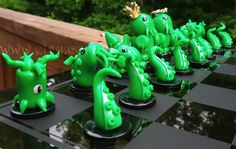Chess is cool and there are tons of variations out there that use different characters for the chess pieces, but I think the Little Fat Cthulhu Custom Chess Set