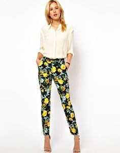 I can't decide how I feel about floral pants. But I think I like them.  ASOS Trousers in Floral Print