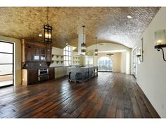Spanish Kitchen with Barrel Roll Ceiling House Design, House, Austin Homes, Spanish Style Kitchen, Barrel Ceiling, Mediterranean Home Decor, Spanish House, Ranch Style Home, Spanish Kitchen