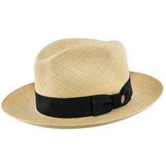 66a09df0213 Center Dent - Stetson Panama Straw Fedora Hat - TSCDNTK