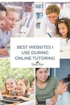 The Best Websites I Use During Online Tutoring - Castle Rock Online Reading Tutor Types Of Websites, Cool Websites, Reading Website, Tutoring Business, Reading Tutoring, Rock Online, Spelling Lists, Learning Apps, Struggling Readers