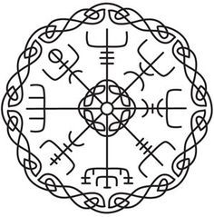 VEGVISIR - This runic or Viking compass is said to help the bearer see the way in a storm, even if the way is not known.