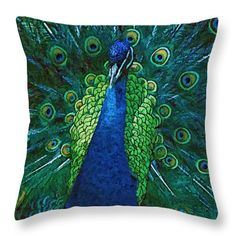 Peacock Throw Pillow for Sale by Cathy Anderson Peacock Decor, Peacock Colors, Green Color Schemes, Green Colors, Blue Bedroom, Bedroom Colors, Peacock Pillow, Blue Carpet, Pillow Reviews