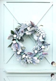Winter Door Wreath ~