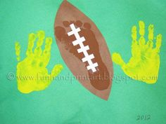 Handprint and Footprint Art : Handprint & Footprint Football Craft
