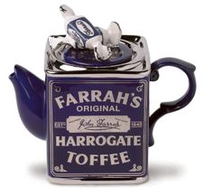 Especially designed and produced for the well-known confectioner of toffee, Farrah's of Harrogate.