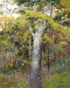 Within the Forest - Pastel by Albert Handell