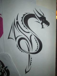 initials design using a dragon