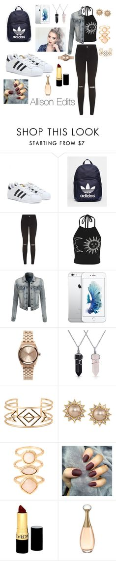 """""""Allison Edit"""" by taylormarykaeyelizabeth ❤ liked on Polyvore featuring adidas, WearAll, LE3NO, Nixon, Bling Jewelry, Stella & Dot, Carolee, Monsoon and Revlon"""