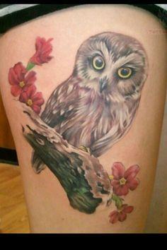 Owl tatt. Art.