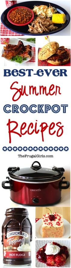 Put the delicious back in your Summer Dinners and Patriotic Parties with these Best Ever Summer Crockpot Recipes! Go grab your Crock Pot!