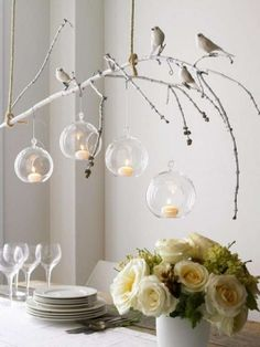 Hanging Candle Holders Bubbles Orbs