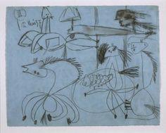 Estudio de composición (III). Dibujo preparatorio para «Guernica»