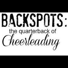 Back Spots The Quarterback Of Cheer Leading