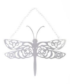 Look what I found on #zulily! Dragonfly Hanging Garden Décor #zulilyfinds