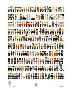 Trexels - Star Trek Pixel Art by John Martz and Koyama Press