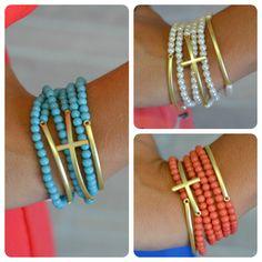 Multi-Strand Cross Bracelet