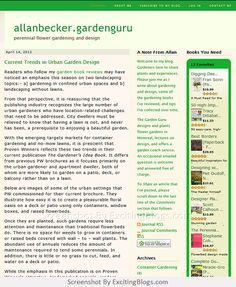 Gardening Blogs, Site, Flowers Perennials, Vegetable Garden, About Me Blog, Herbs, Vegetables, Design, Veggie Gardens