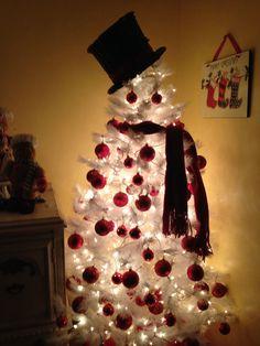 our kitchen snowman christmas tree englebert white christmas tree - White Christmas Tree Snowman