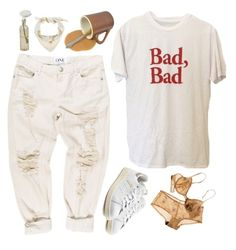 """""""Bad, bad"""" by mywayoflife ❤ liked on Polyvore featuring adidas Originals, Cultural Intrigue, Hermès and whitesneakers"""