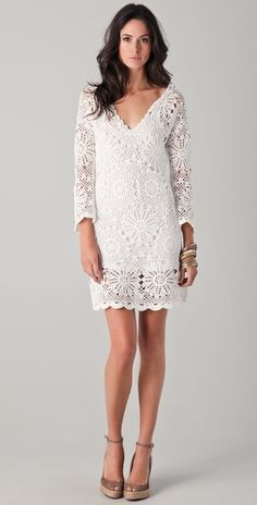 Patterson J. Kincaid - Dora Crochet Dress, $298.00, If I ever got eloped, I would definitely wear this, or at least something like it.