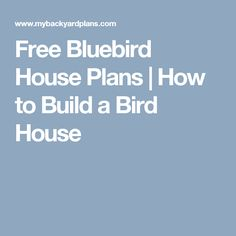 how to build a bluebird house video