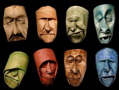 French artist Junior Fritz Jacquet has been interested in paper since childhood, and fascinated by what can be made from it.His latest series, entitled Masks, is made up of 40 crushed and painted toilet paper rolls that have been shaped into expressive faces. Who the heck would have ever thought you could make such amazing art just from old toilet paper rolls?!