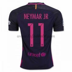 Billige Fodboldtrøjer Barcelona 2016-17 Neymar Jr 11 Kortærmet Udebanetrøje