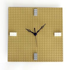 Make your own easy, customizable LEGO clock! Swap out the bricks for minifigures, or leave it blank.